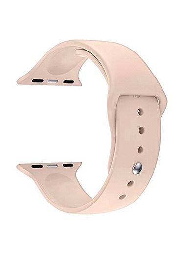 Microsonic Apple Watch Series 5 40mm Silikon Kordon Rose Gold Altın